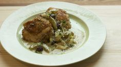 chicken thighs braised with creole mustard--