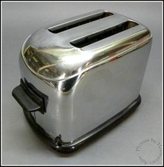 1930's Vintage Toastmaster Model 1B8 Art Deco Chrome Toaster - Works Great!
