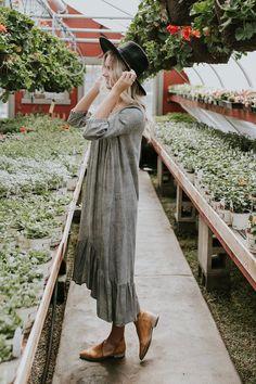 Heathered Charcoal Midi Dress | ROOLEE