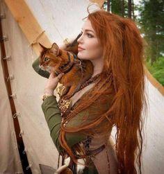 Redhead Cat Lady