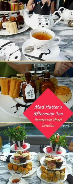 Exzentrische Alice-in--Wonderland-Teatime: Mad Hatter's Tea im Sanderson Hotel London #aliceinwonderland #teatime #london