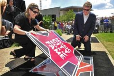 Rock 'n' roll icon Steve Winwood has his star unveiled on the Music City Walk of Fame June 5, 2012 in Nashville