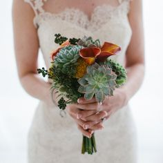 Succulent and succulent | Zac Wolf Photography | Bouquet: Rose Red & Lavender