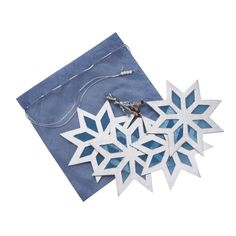$8 Silver Star Ornament Set. Celebrate winter and the holidays, with the snowy blue light shining through these blue and silver stars. Find this fair trade goodie and more at Ten Thousand Villages Boston!
