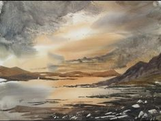 New hake brush and another watercolour demo - YouTube