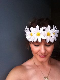new flower options! Floral crown by SashaGold on Etsy, $15.00