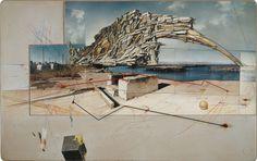 Lebbeus Woods - San Francisco Project: Inhabiting the Quake, Quake City (1995)