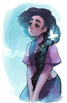 """Fan art of Stevonnie, Steven and Connie's fusion, from the Cartoon Network show """"Steven Universe"""" Art Clipart, Image Clipart, Steven Universe Stevonnie, Connie Steven Universe, Desenhos Cartoon Network, Fluffy Hair, Universe Art, Animation, Star Vs The Forces Of Evil"""