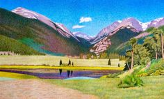 Impression Evergreen: Sheep Lakes - Colored Pencil Drawing
