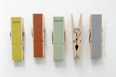 木製クリップ : 真似したくなるアレンジ。マスキングテープの素敵な使い方 - NAVER まとめ