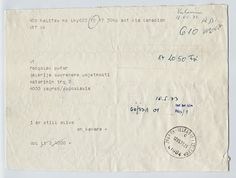 "On Kawara, ""I am still alive (18.05.1973)"", 1973, telegram, 15.3 x 20.8cm.  On Kawara  www.artexperiencenyc.com"