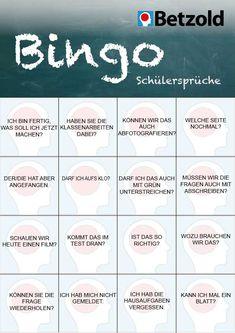 Bingo für Lehrerkonferenzen | Helfer für Lehrer | Pinterest ...