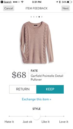 Fate Garfield Pointelle Detail Pullover