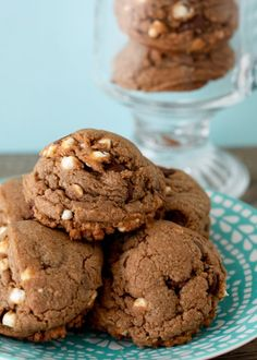 Hot Cocoa Cookies With Marshmallow Mallow Bits.