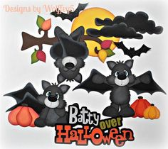 ELITE4U Halloween Bats Paper Piecing Premade Scrapbook Page Album WOLFFEY5 | eBay