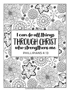 Give Thanks Coloring Page Psalm 136:1 Printable Coloring | Color me ...
