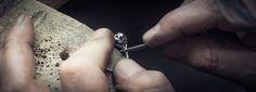 Renowacja platynowego pierścionka z diamentem.