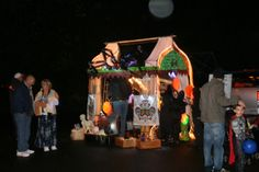 Halloween Trunk or Treat 2012  Fortune Teller yes, that's a subaru forester behind all that light...Lady Magda's