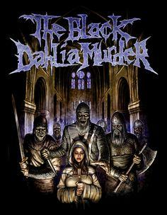 Beautiful Dark Art, Beautiful Mask, Metal Band Logos, Metal Bands, Power Metal, Thrash Metal, Metallica, The Black Dahlia Murder, Extreme Metal