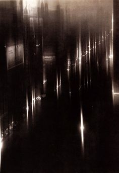 Drizzle on Fortieth Street, New York, 1925, photograph, by Edward Steichen