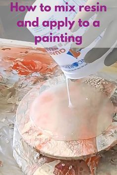 Resin Obsession - Learn how to mix resin and apply to a painting.Learn the basics of resin painting and how to apply it to your artwork. This is Part 1 in a video series by Ellen Anderson for Resin Obsession.Society Of Arts And Crafts Acrylic Pouring Art, Acrylic Resin, Acrylic Art, Flow Painting, Painting Tips, Pour Painting, Watercolour Painting, Diy Resin Painting, Painting Videos