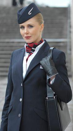 British airways stewardess boobs