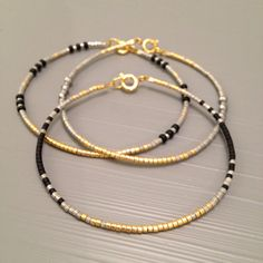 silver gold delicate bracelet Layering Bangle by ToccoDiLustro