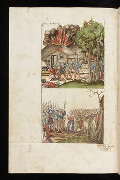 Chronicon Helvetiae, Teil II. Wettingen, 1572. Aargauer Kantonsbibliothek, MsWettF 16: 2, fol 213v