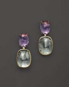 VIANNA BRASIL 18K Yellow Gold Earrings with Amethyst, Prasiolite and Diamond Accents | Bloomingdale's