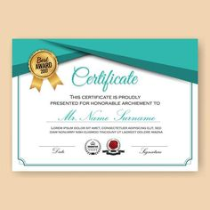 Certificate Layout, Certificate Background, Certificate Of Achievement Template, Certificate Design Template, Shape Templates, Templates Free, Design Templates, Basic Software, Page Decoration