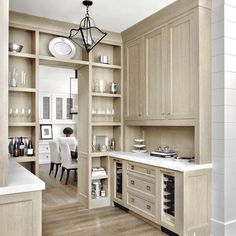 "98 Likes, 22 Comments - Tracy Hickman (@hickmandesignassociates) on Instagram: ""When a butler's pantry is pretty enough to be open to the kitchen and becomes an accessory itself…"""