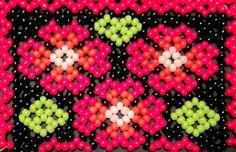 Flowers huichol bracelet pattern by Vixenscraft on Etsy