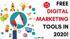 15+ Best Free Digital Marketing Tools In 2020 - UPDATED Best Email Marketing Software, Content Marketing Tools, Digital Marketing Trends, Online Marketing Tools, Best Digital Marketing Company, Digital Marketing Strategy, Social Marketing, Marketing Automation, Competitor Analysis