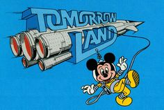 """gameraboy: """"These are all the logos for the different """"lands"""" in Disneyland, from the 1982 Disneyland Guide Book. Took a bit of Photoshopping to get them all clear of obstructions, although I left the. Disney World Magic Kingdom, Disney Magic, Disney World Vacation, Disney Parks, Disneyland Tomorrowland, Vintage Disneyland, Disney Posters, Disney Scrapbook, Scrapbooking"""
