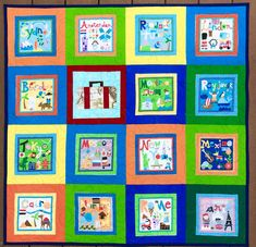 Those Who Can't Travel, Quilt -- StillATourist Pattern Blocks, Quilt Patterns, Remind Me Later, Quilts Online, Yellow Quilts, Rainbow Quilt, Quilt Sizes, Simple Colors, Travel Themes