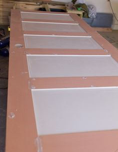 How to Turn a Plain Door into a 5 Panel Door by Jenna Sue Design Co featured on @Remodelaholic