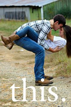 country love engagement photo idea