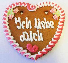 Lebkuchenherzen Bio Ich liebe Dich 24 cm , Karton
