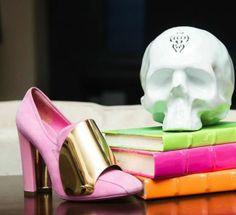 YSL Heels and Skull