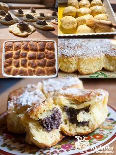 ČESKÉ BUCHTY Czech Recipes, Home Baking, Mexican Food Recipes, Waffles, Czech Food, Goodies, Food And Drink, Favorite Recipes, Czech Republic