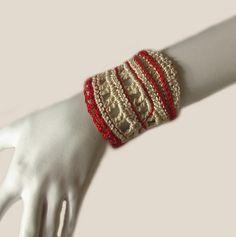 Freeform crochet bracelet
