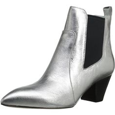 Marc by Marc Jacobs Women's Kim Chelsea Boot ($450) ❤ liked on Polyvore featuring shoes, boots, chelsea ankle boots, marc by marc jacobs shoes, chelsea bootie, metallic boots and beatle boots