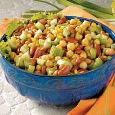 Need bean salad recipes? Get bean salad recipes for your next meal or gathering. Taste of Home has lots of bean salad recipes including black bean salads, green bean salads, and more bean salad recipes. Bean Salad Recipes, Healthy Salad Recipes, Curry Recipes, Healthy Foods, Vegetable Side Dishes, Vegetable Recipes, Three Bean Salad, Three Beans, Green Bean Salads