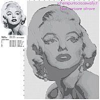 Marilyn Monroe bianco e nero schema punto croce gratis