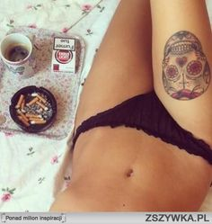 Tats in bed