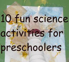 10 science activities for preschoolers