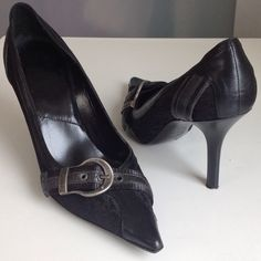 Dior pointy toe black pumps are classics! These gently worn Dior adorable pumps are in mint condition and have been resoled.  Made in Italy and size EU 38.5. Best fit for someone who wears US8. Very comfy with a 3.5 inch heel.  Pointy toe shoes are always in fashion. I'm selling them because they don't fit me anymore 😕Price is firm!!! Please No Low Ball Offers!!!😡 I mean it! Thank you 😘 Dior Shoes Heels