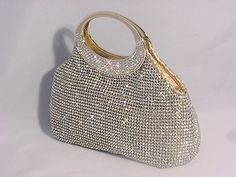 Women's Gold Rhinestone Clutch