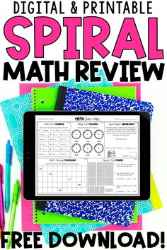 These spiral math review and math warm ups for 1st and 2nd grade are essential for the first or second grade classroom. Use these in Google Slides, Google Classroom, or Seesaw. Students complete a small set of problems to work on number sense, place values, equations, and more. They are perfect for test prep, and teachers love that they are only one page a week. You can use these as worksheets, homework, or morning work. They are a fun, quick way to review Common Core math skills and standards!
