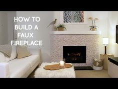 How to build a DIY Faux Fireplace ( home decor ideas) - YouTube